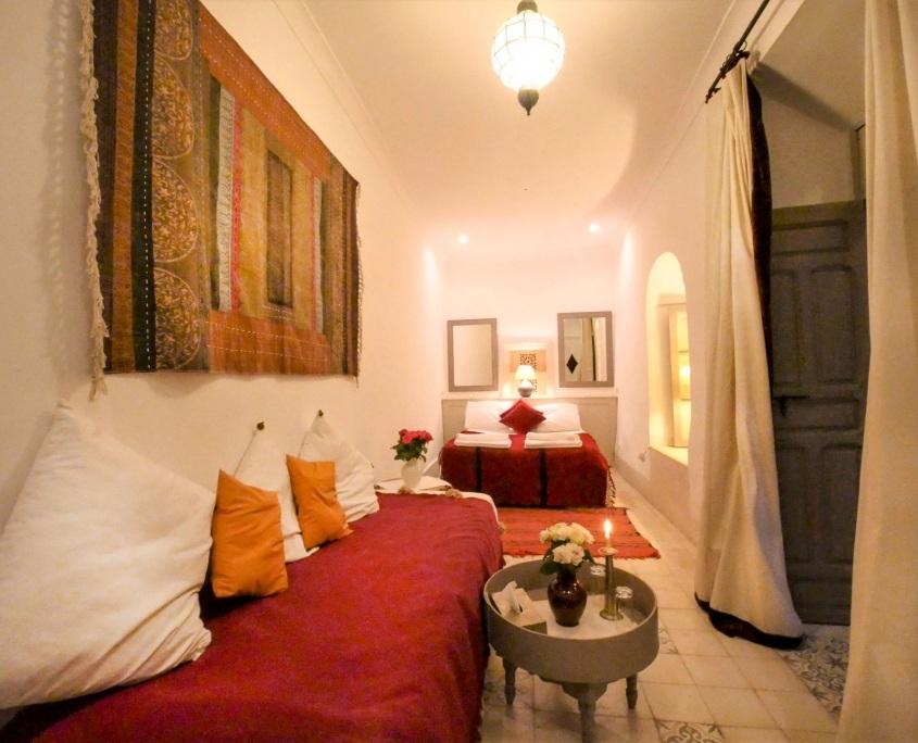 Chambre Bahia dans le Riad Dar Aman à Marrakech au Maroc