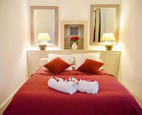 Photo de la chambre Bahia dans un riad à Marrakech au Maroc