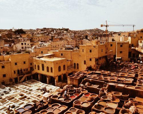 Vue sur la ville de Fès au Maroc