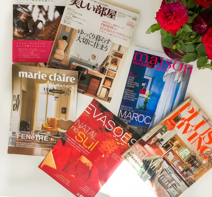 Magazine de décoration et d'architecture marocaine d'un riad à Marrakech