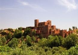 Photo de la vallée de l'Ourika, proche des montagnes de l'Atlas de Marrakech au Maroc